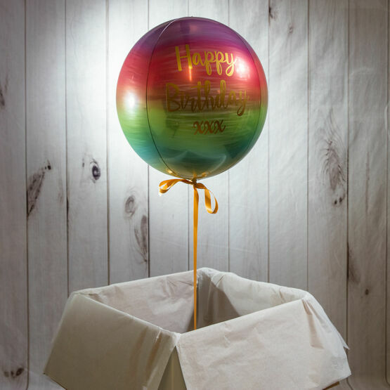 Personalised Rainbow Orb Balloon
