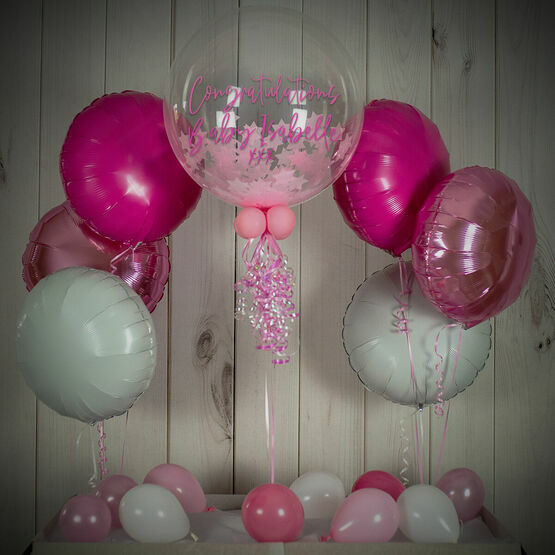 Pink Stars Confetti Balloon Package