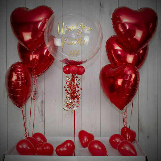 Rose Petal Confetti Balloon Package