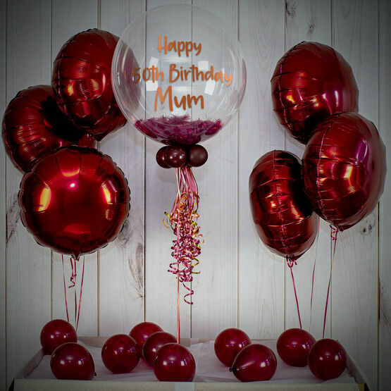 Berry Feathers Balloon Package