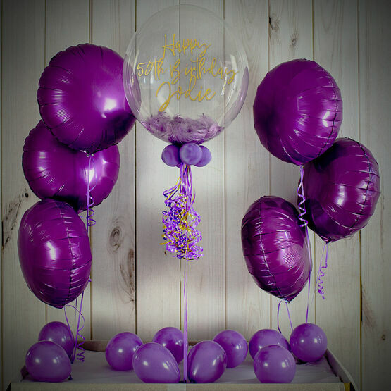 Lilac Feathers Balloon Package